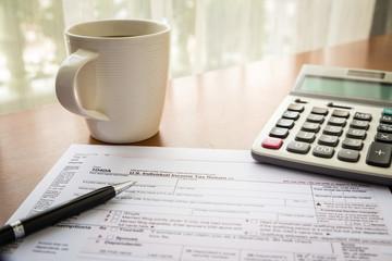 Form 1040A, U.S. Individual income tax return