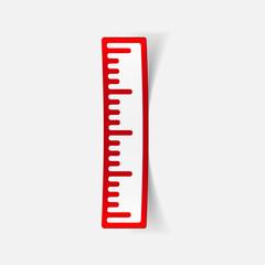 realistic design element: ruler