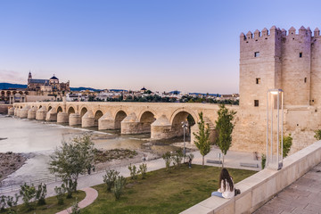 Roman bridge in Cordoba, Andalusia, southern Spain.