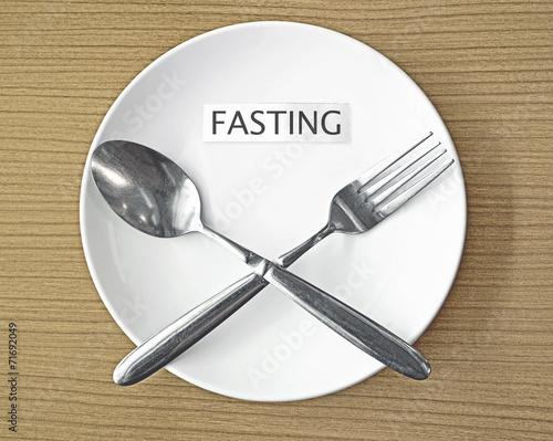 Leinwandbild Motiv fasting