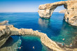 The world famous Azure Window in Gozo island Malta