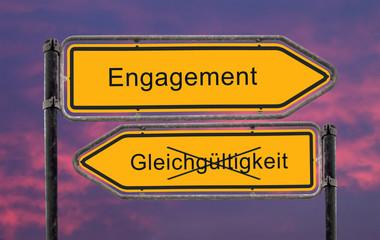 Strassenschild 22b - Engagement