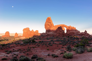 Landscape with Turret Arch in Arches National Park