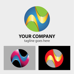 Logo Circle abstract Global, media, technology icon