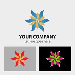 Ribbon flower logo