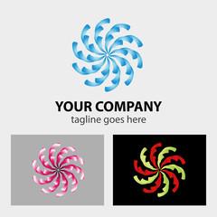 Swirly logo vector