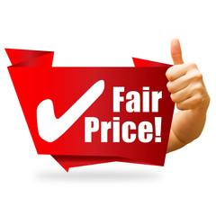 Fair Price! Button, Icon