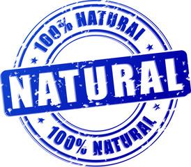 natural blue stamp