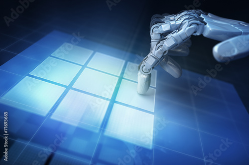 canvas print picture Hand of robot