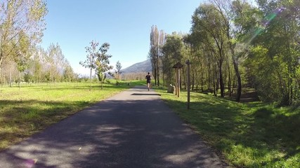 run in the park