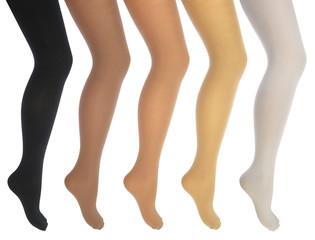 Women's legs in various tights