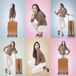 Travel concept with Asian beauty