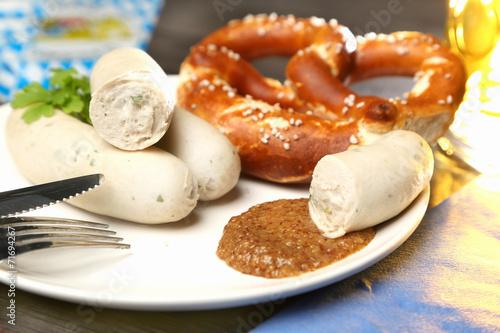 Foto op Canvas Snack Bayerische Mahlzeit