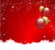 red golden background christmas