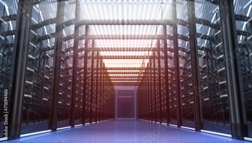 Leinwanddruck Bild 3D servers
