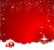 gift christmas background balls red