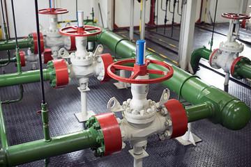 Pipeline valves in pump station
