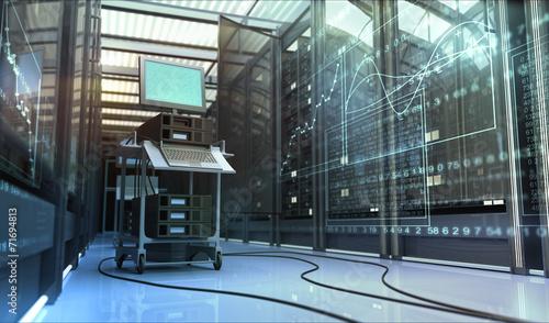 Leinwandbild Motiv Work in server room