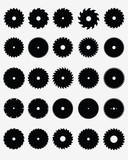 Set of different circular saw blades, vector - 71695044