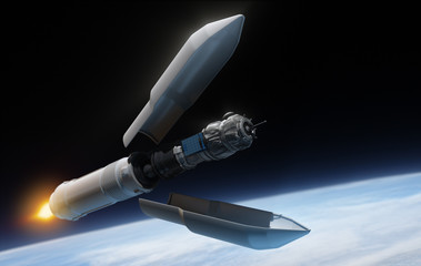 Satellite inside the rocket