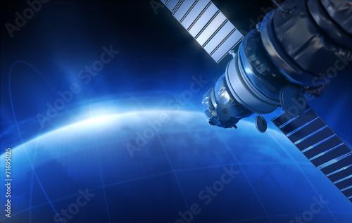 Leinwanddruck Bild Satellite