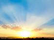 Leinwandbild Motiv Beautiful Sunset