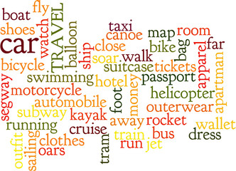 Way to travel, and words regarding travel