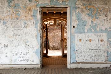 Interior of Abandoned Luxury House