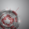Abstract Modern technology circles vector background