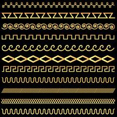set of vintage designs of gold