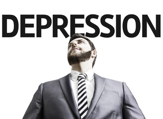 Business man with the text Depression in a concept image