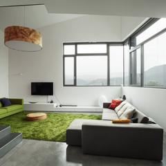Interior of modern villa, living room
