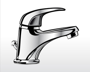 Chrome faucet for bathroom 1