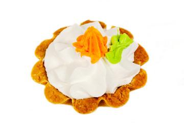 tarts on white background
