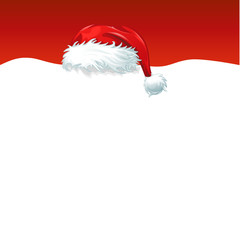 red christmas hat background