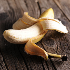 Banana on wooden background