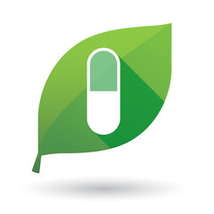 leaf icon with a pill