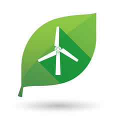 leaf icon with a wind generator