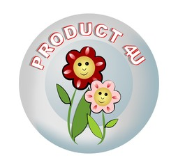 Label product recommendations with beautiful flowers