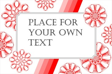 Gift card or invitation card with red stars