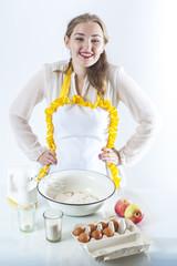 Smiling homemaker