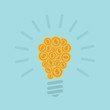 Idea business concept with light bulb