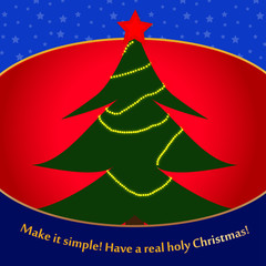 Make it simple Christmas Card