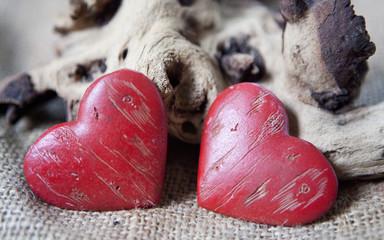deux coeurs de saint Valentin