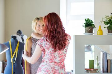 Dressmaker at work