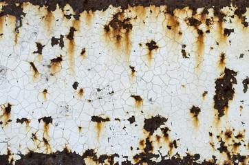 white paint on rust