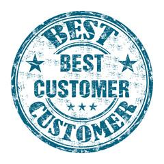 Best customer grunge rubber stamp