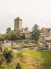 Südtirol, Schloss Tirol, Dorf Tirol, Vinschgau, Herbst, Italien