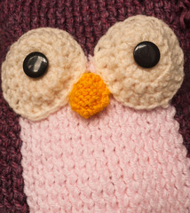 knitted wool owl