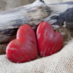 couple de coeurs rouge amoureux